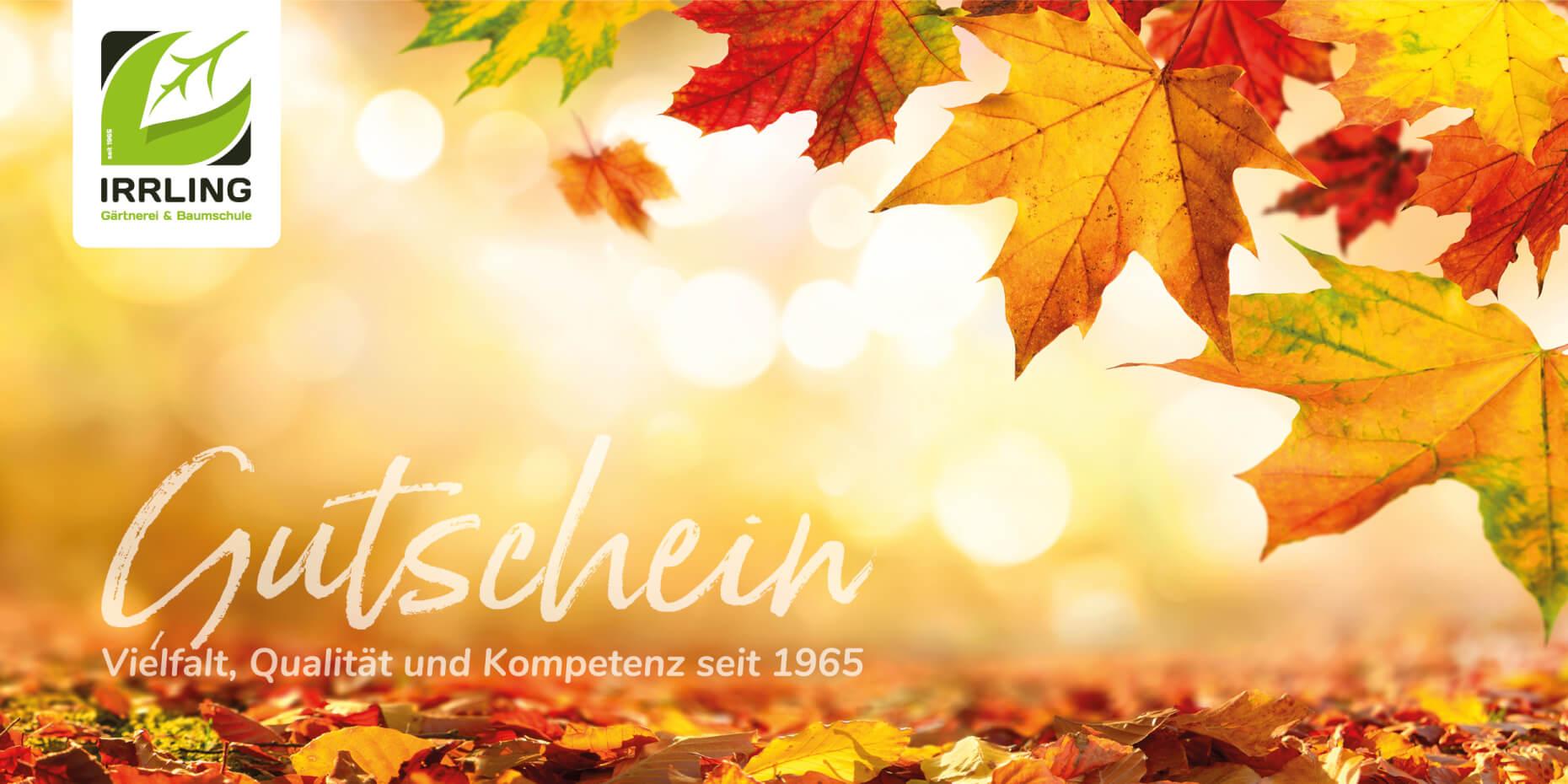 Gutschein Layout Herbst
